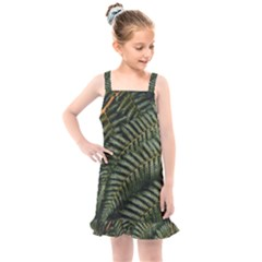 Green Leaves Photo Kids  Overall Dress