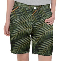 Green Leaves Photo Pocket Shorts
