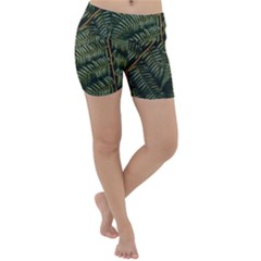 Green Leaves Photo Lightweight Velour Yoga Shorts