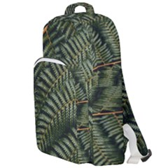 Green Leaves Photo Double Compartment Backpack