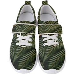 Green Leaves Photo Men s Velcro Strap Shoes