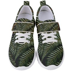 Green Leaves Photo Women s Velcro Strap Shoes