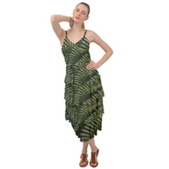 Green Leaves Photo Layered Bottom Dress