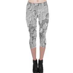 Nature Texture Print Capri Leggings