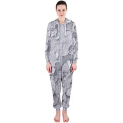 Nature Texture Print Hooded Jumpsuit (ladies)