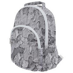 Nature Texture Print Rounded Multi Pocket Backpack