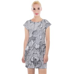 Nature Texture Print Cap Sleeve Bodycon Dress by dflcprintsclothing