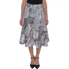 Nature Texture Print Perfect Length Midi Skirt