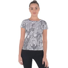 Nature Texture Print Short Sleeve Sports Top