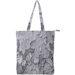 Nature Texture Print Double Zip Up Tote Bag