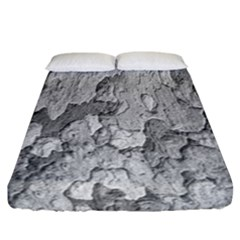Nature Texture Print Fitted Sheet (california King Size)