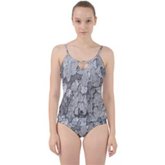 Nature Texture Print Cut Out Top Tankini Set