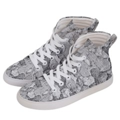 Nature Texture Print Women s Hi Top Skate Sneakers by dflcprintsclothing