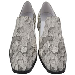 Nature Texture Print Women Slip On Heel Loafers