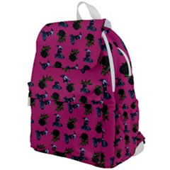 Gothic Girl Rose Pink Pattern Top Flap Backpack