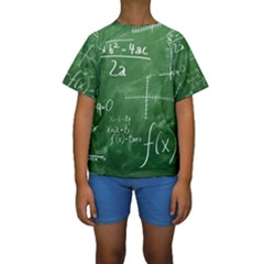Mathematics Green Kids  Short Sleeve Swimwear by snowwhitegirl