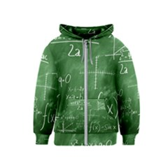 Mathematics Green Kids  Zipper Hoodie by snowwhitegirl