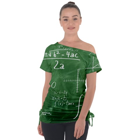 Mathematics Green Tie-up Tee by snowwhitegirl