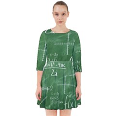 Mathematics Green Smock Dress