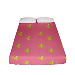 Peeled Banana On Pink Fitted Sheet (full/ Double Size) by snowwhitegirl