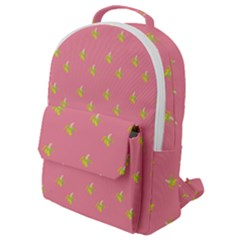 Peeled Banana On Pink Flap Pocket Backpack (small) by snowwhitegirl