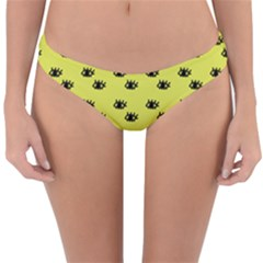 Yellow Eyes Reversible Hipster Bikini Bottoms by snowwhitegirl