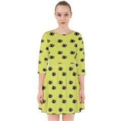 Yellow Eyes Smock Dress
