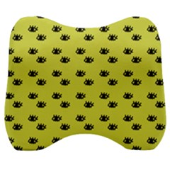 Yellow Eyes Velour Head Support Cushion