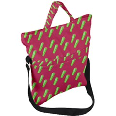 Ice Freeze Pink Pattern Fold Over Handle Tote Bag by snowwhitegirl