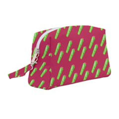 Ice Freeze Pink Pattern Wristlet Pouch Bag (medium) by snowwhitegirl