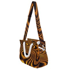 Wave Abstract Lines Rope Handles Shoulder Strap Bag