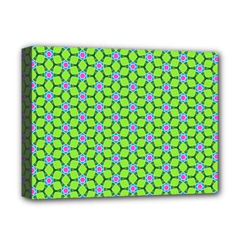 Pattern Green Deluxe Canvas 16  X 12  (stretched)  by Mariart