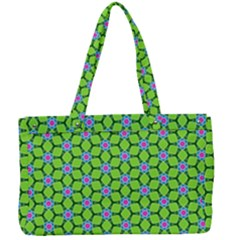 Pattern Green Canvas Work Bag by Mariart