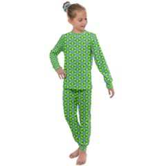 Pattern Green Kids  Long Sleeve Set  by Mariart