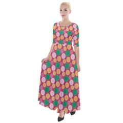 Circle Circumference Half Sleeves Maxi Dress