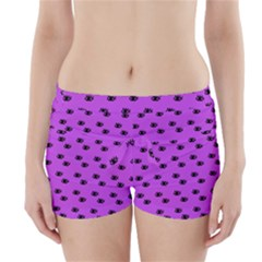 Purple Eyes Boyleg Bikini Wrap Bottoms
