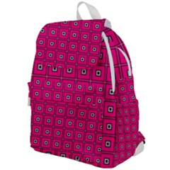 Pink Pattern Squares Top Flap Backpack