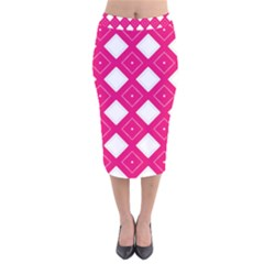 Pattern Texture Velvet Midi Pencil Skirt