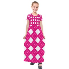 Pattern Texture Kids  Short Sleeve Maxi Dress by HermanTelo
