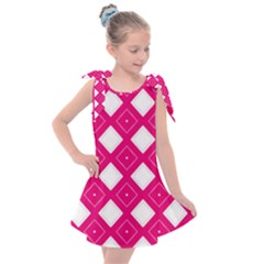 Pattern Texture Kids  Tie Up Tunic Dress
