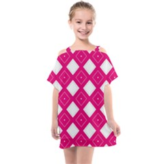 Pattern Texture Kids  One Piece Chiffon Dress
