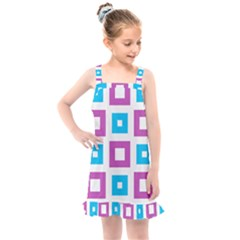 Pattern Plaid Kids  Overall Dress by HermanTelo