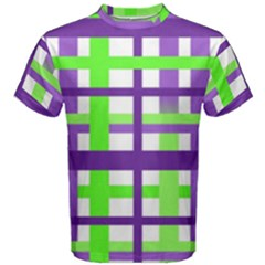 Plaid Waffle Gingham Men s Cotton Tee by HermanTelo