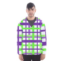 Plaid Waffle Gingham Men s Hooded Windbreaker