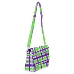 Plaid Waffle Gingham Shoulder Bag With Back Zipper