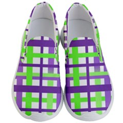 Plaid Waffle Gingham Men s Lightweight Slip Ons by HermanTelo