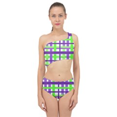 Plaid Waffle Gingham Spliced Up Two Piece Swimsuit by HermanTelo