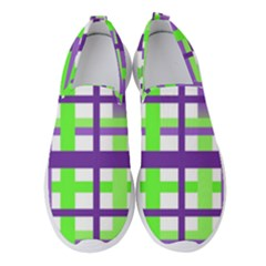 Plaid Waffle Gingham Women s Slip On Sneakers by HermanTelo