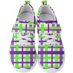 Plaid Waffle Gingham Men s Velcro Strap Shoes by HermanTelo