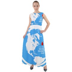 The World Day Of Struggle Against Diabet Chiffon Mesh Maxi Dress